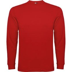 Camiseta de manga larga, con cuello redondo.
