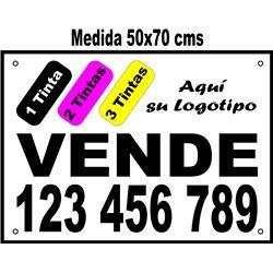 Cartel Polipropileno 3 Tintas 50x70 cms (en Paq. 25/50/100 uds)