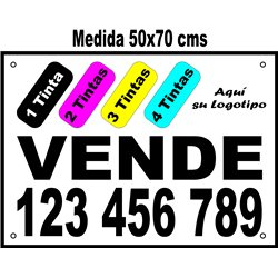 Cartel Polipropileno 4 Tintas 50x70 cms (en Paq. 25/50/100 uds)