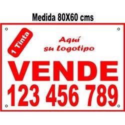 Cartel Polipropileno 1 Tinta 80x60 cms (en Paq. 25/50/100 uds)