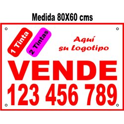 Cartel Polipropileno 2 Tintas 80x60 cms (en Paq. 25/50/100 uds)
