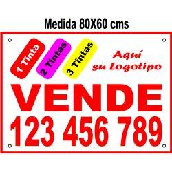 Cartel Polipropileno 3 Tintas 80x60 cms (en Paq. 25/50/100 uds)