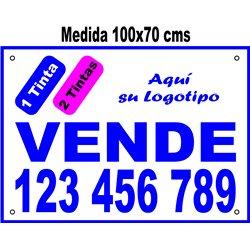Cartel Polipropileno 2 Colores 100x70cms (en Paq. 25, 50 ó 100 uds)