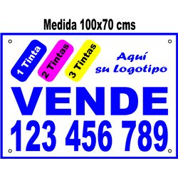 Cartel Polipropileno 3 Colores 100x70cms (en Paq. 25, 50 ó 100 uds)