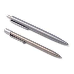 Lápiz de minas y Bolígrafo de una pieza metalico