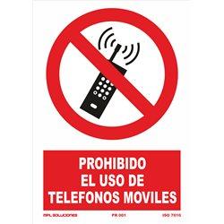 Prohibido el uso de telefonos moviles