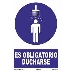 Señal: Obligatorio ducharse