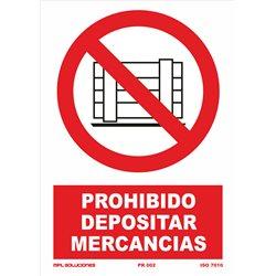 Prohibido dejar mercancia