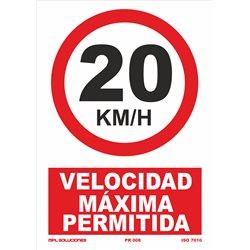Velocidad máxima 20 KMS
