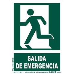 Señal: Salida de emergencia puerta izq.
