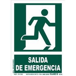 Señal: Salida de emergencia puerta dcha.