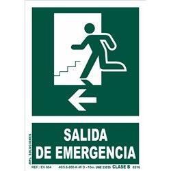Señal: Salida emergencia izq.