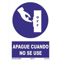 Señal: Apagar cuando no se use
