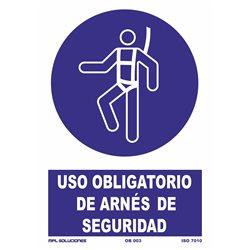 Señal: Uso obligatorio de arnés de seguridad