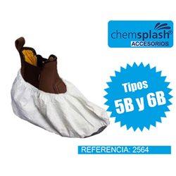 Cubrezapatos blanco antideslizante PVC